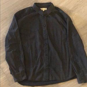 Madewell black denim button up, XL